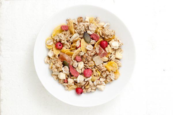 Muesli Fruits Jamets Céréales Petit Déjeuner Hôtel