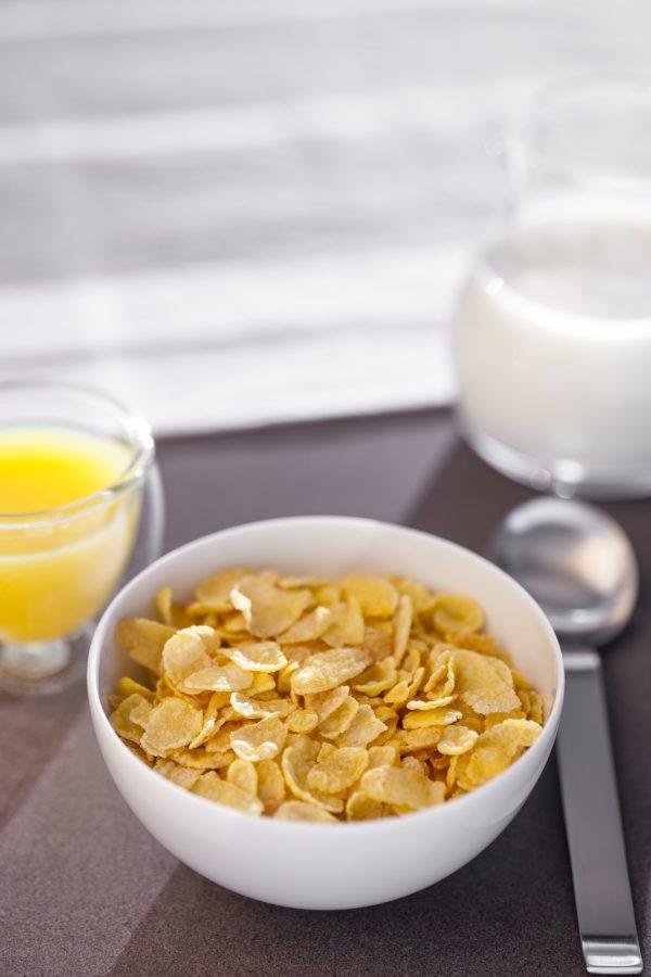photo table assiette Corn Flakes Jamets
