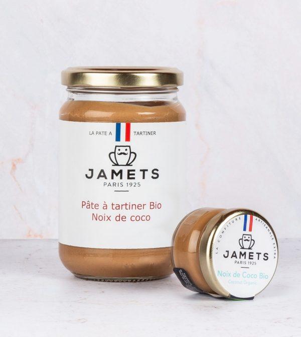 Jamets pot Pâte à Tartiner Artisanale Noix de Coco BIO