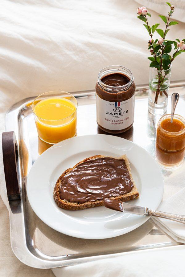 Nutella Jamets Pâte à Tartiner BIO petit déjeuner sain et gourmand Nutella maison