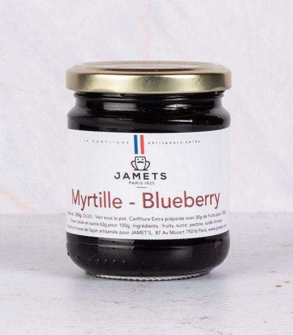 Confiture Myrtilles Blueberries Jamets