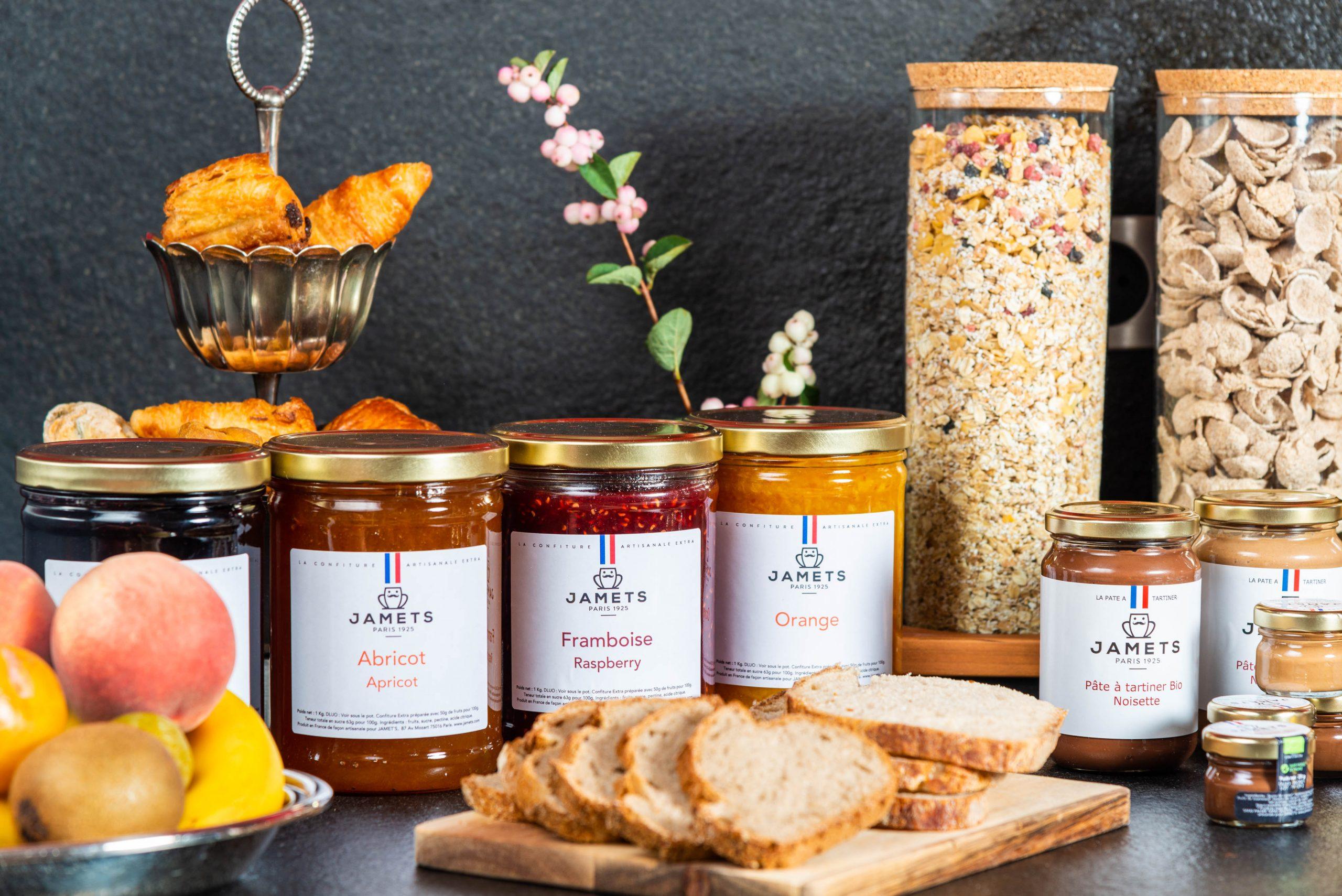 produits Jamets confitures pâte à tartiner céréales mueslis boutique en ligne