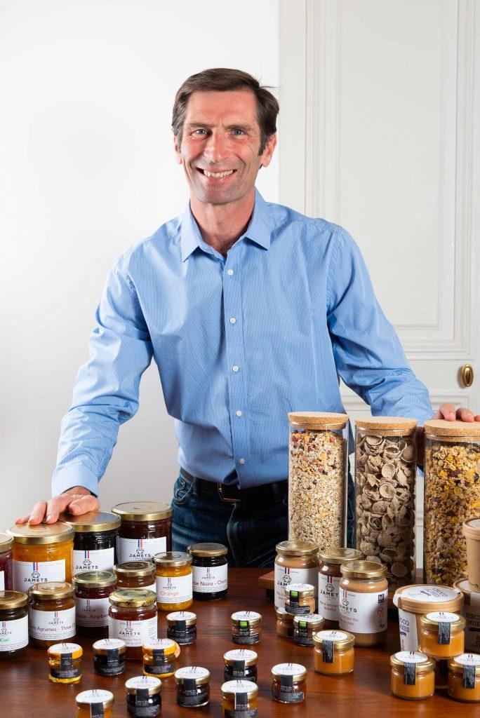 Pierre Gallon Dirigeant de Jamets avec sa gamme produits sains et gourmands pour le petit déjeuner des hôtels